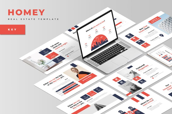 Thumbnail for Homey : Real Estate Keynote Template