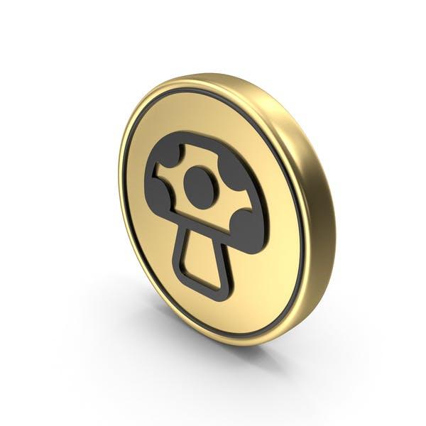 Значок Логотип грибной монеты
