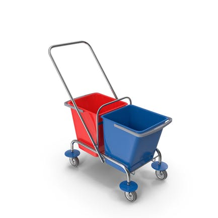 Cleaning Trolley with Buckets