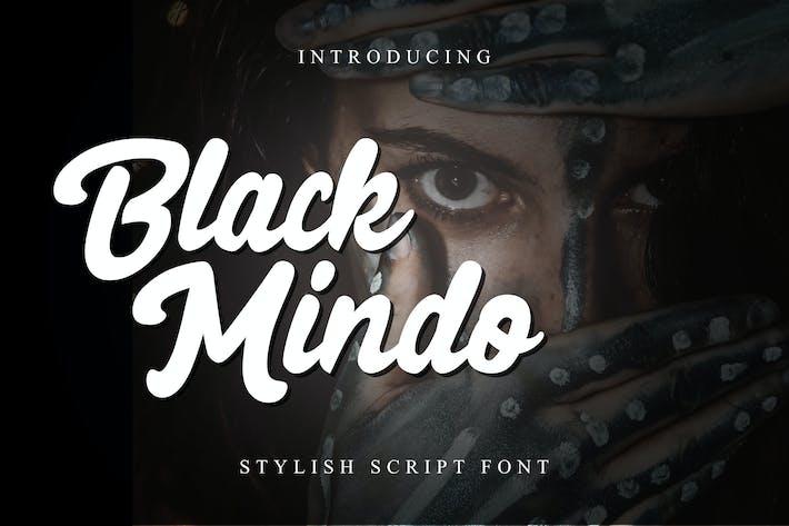 Thumbnail for Black Mindo - Script Font RS