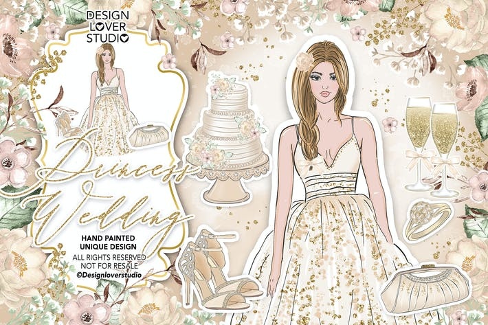 Thumbnail for Diseño Boda princesa.