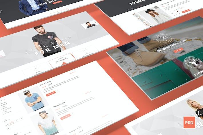 Thumbnail for Canifa - eCommerce PSD Templates