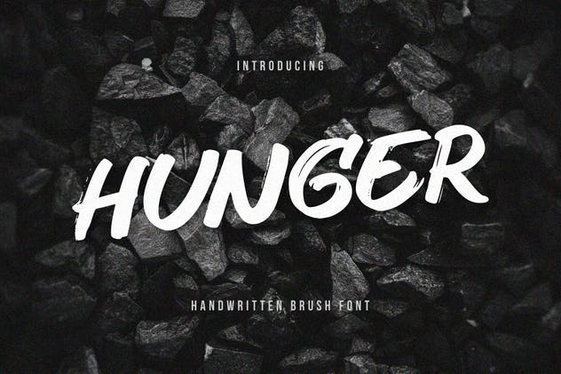 Hunger - Handwritten Brush Font