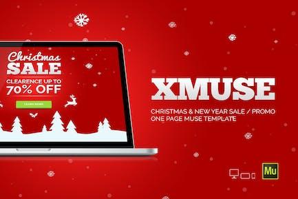 XMuse - Christmas Sale / Promo Muse Template