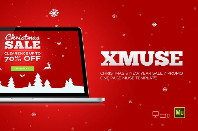 XMuse - Christmas Sale / Promo Muse Template - product preview 5