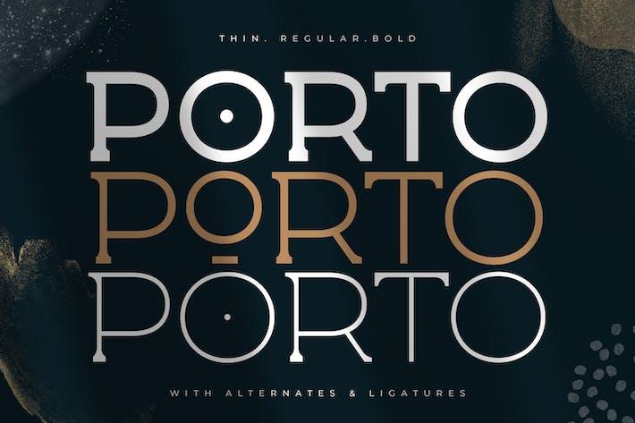 Porto - Mostrar Fuente Spur Con serifa