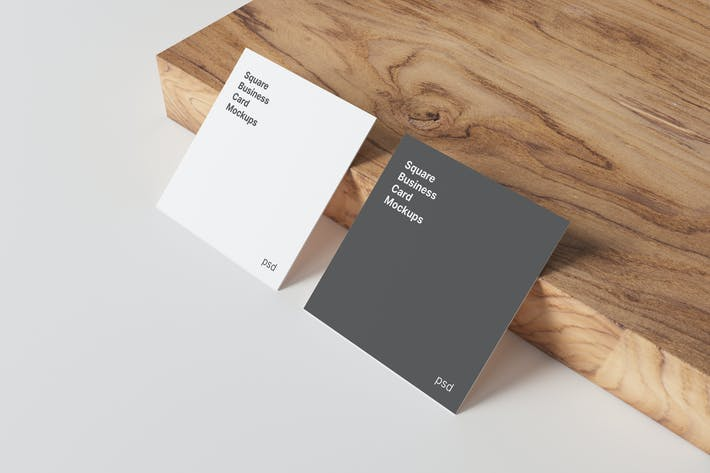 Thumbnail for Square Business Card Mockups