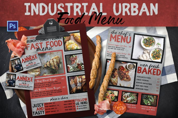 Industrial Urban Food Menu