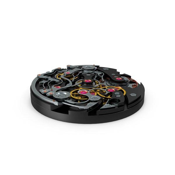 Mecanismo de reloj negro