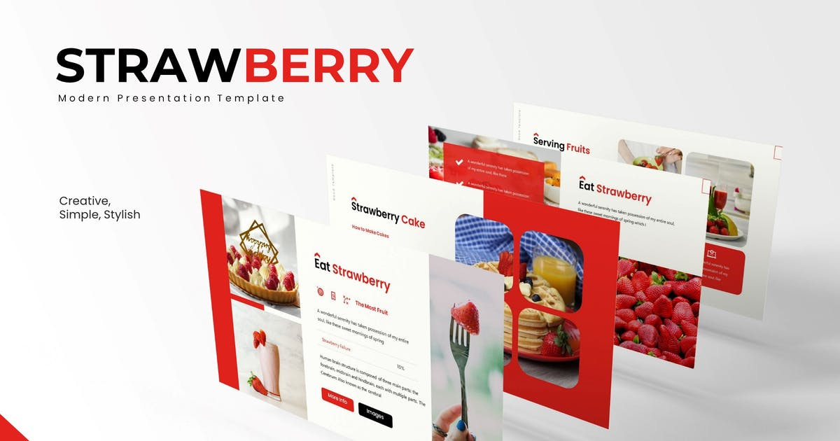 Download Strawberry - Powerpoint Template by karkunstudio