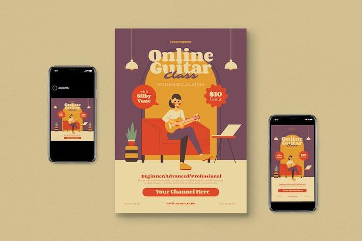 Thumbnail for Guitar Online Class Flyer Set