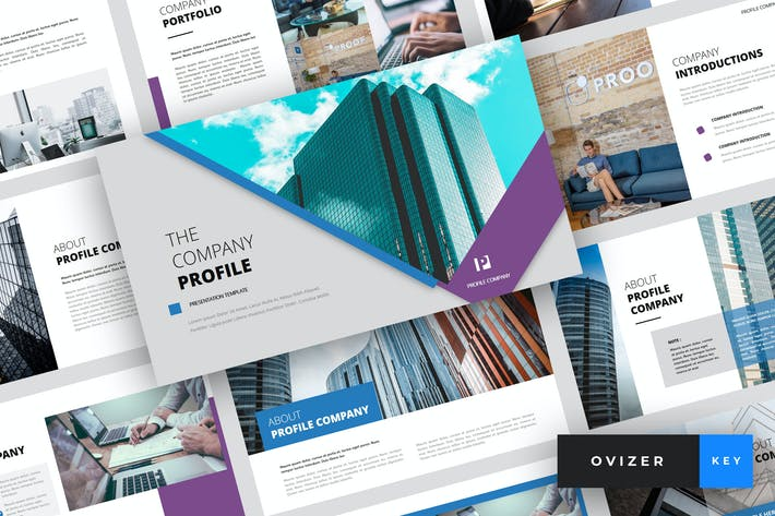 Thumbnail for Ovizer - Company Profile Keynote Template