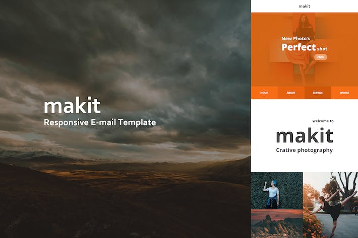 Thumbnail for makit Mail - Responsive E-mail Template