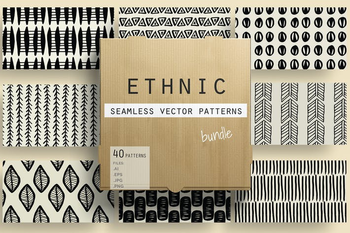 Thumbnail for Ethnic Seamless Vector Patterns