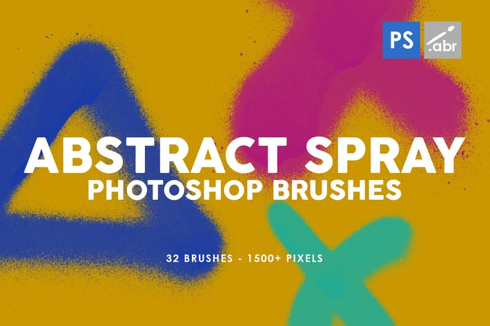 Thumbnail for 32 Abstract Spray Photoshop Stamp Brushes