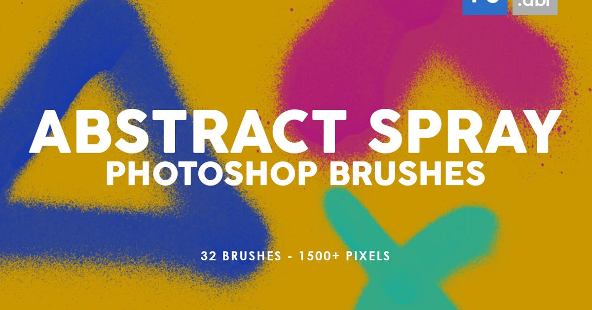 Download 32 Abstract Spray Photoshop Stamp Brushes by M-e-f