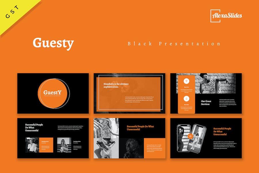 Guesty - Black Google Slides Template