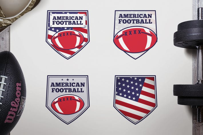 Thumbnail for Vintage American Football Logos / USA Sports Badge