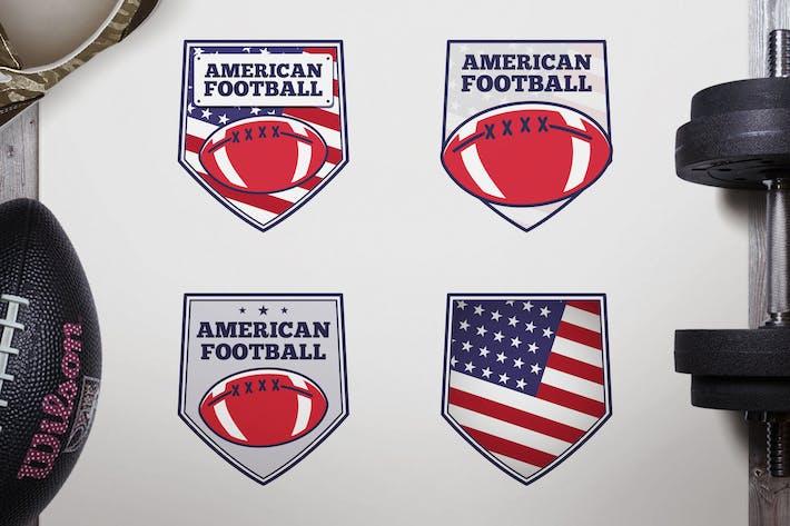 Thumbnail for Vintage American Football Logos / USA Sports Badge