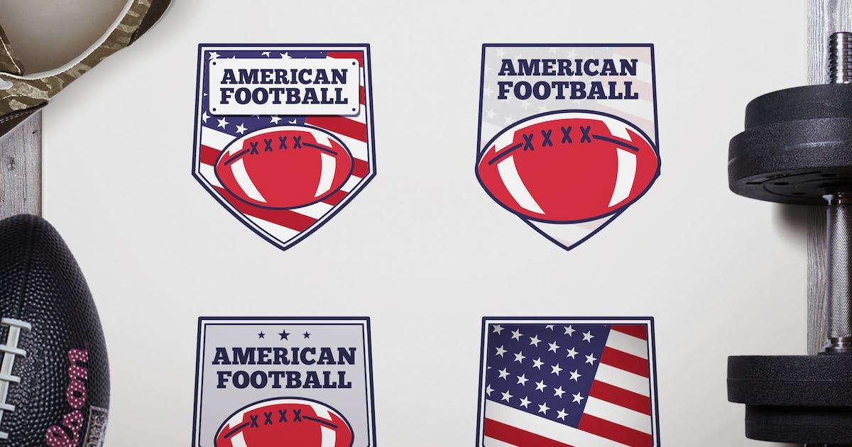 Download Vintage American Football Logos / USA Sports Badge by JeksonJS