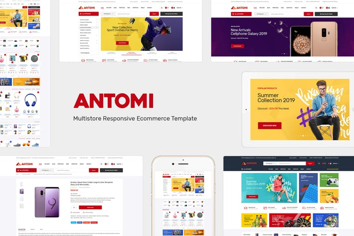 Thumbnail for Antomi - Multipurpose OpenCart Theme