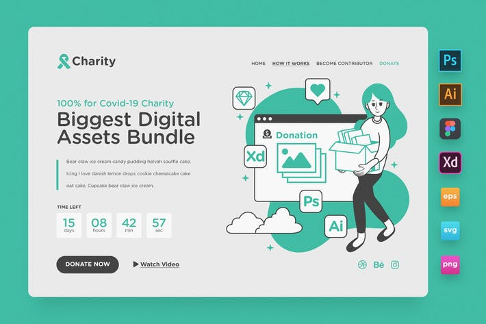 Thumbnail for Landing Page V03 - Charity