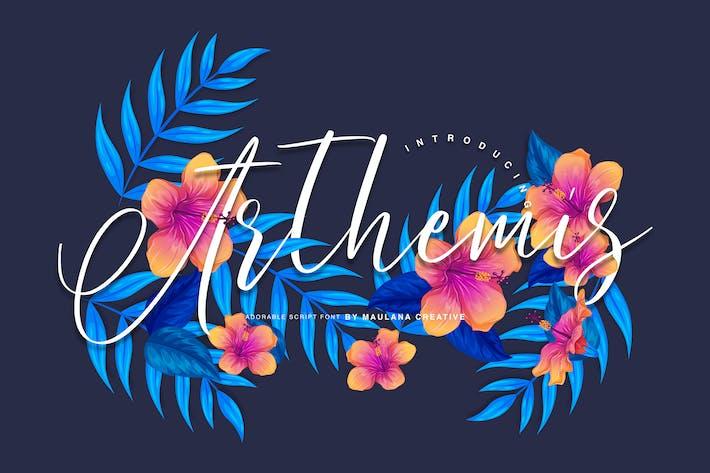 Thumbnail for Arthemis Script - Tipo Logo letra
