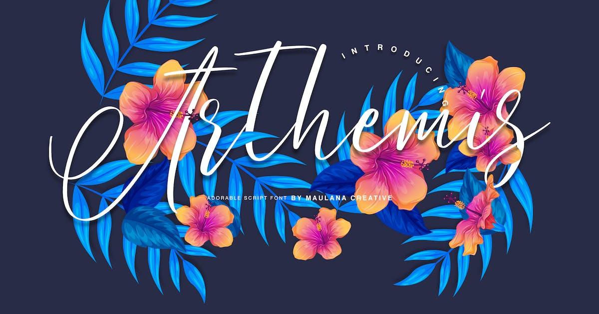 Download Arthemis Script - Logo Font by maulanacreative