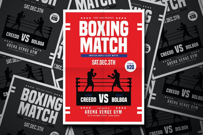 Thumbnail for Boxing Match Flyer