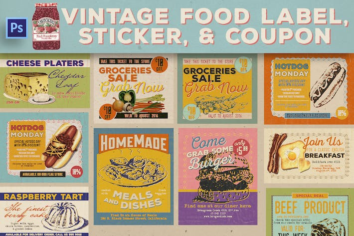 Thumbnail for Vintage Food Label & Sticker