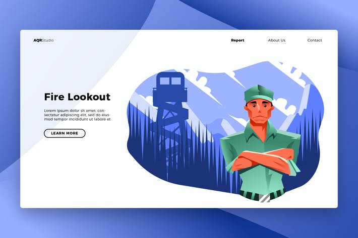 Thumbnail for Forest Lookout - Banner & Landing Page
