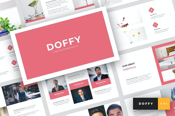Thumbnail for Doffy - Creative Google Slides Template