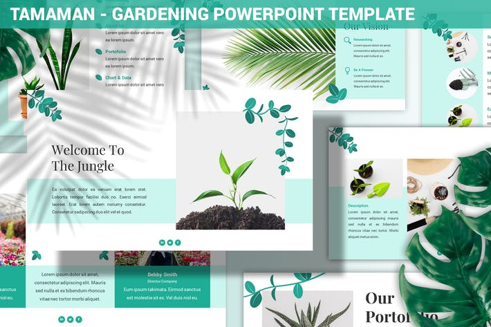 Thumbnail for Tamaman - Gardening Powerpoint Template
