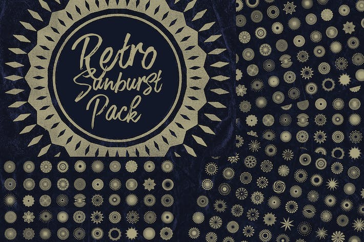 Thumbnail for 150 Retro Sunbursts Pack
