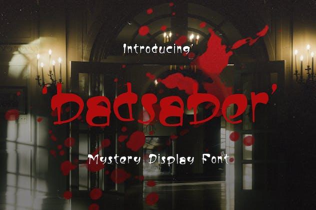 Badsaber Mystery Display Font