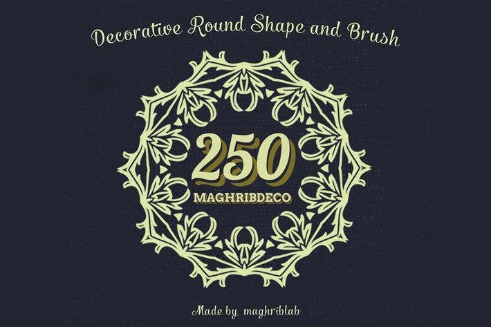 Thumbnail for 250 Decorative Round Shape and Brush