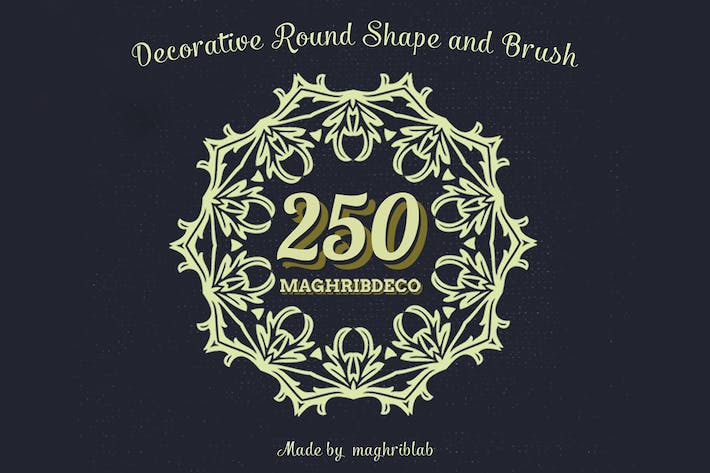 Cover Image For 250 Decorative Round Shape and Brush