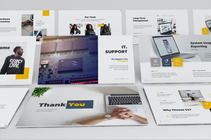 Thumbnail for IT Support Google Slides Template