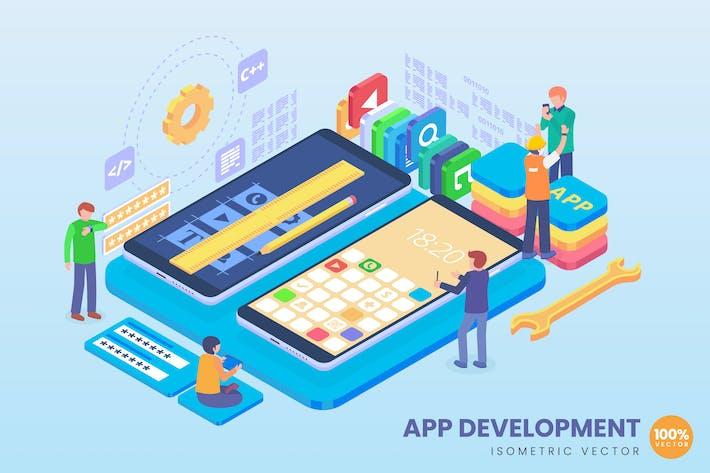 Thumbnail for Isometrische App Entwicklungskonzept
