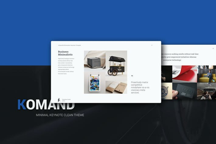 Thumbnail for Komand Keynote Minimal Template