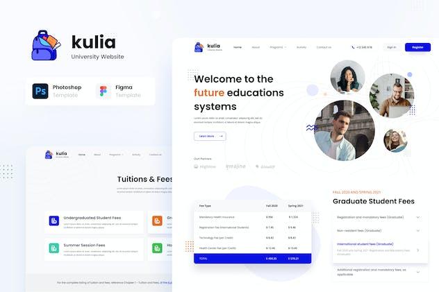 Kulia - Modern University Website UI Template