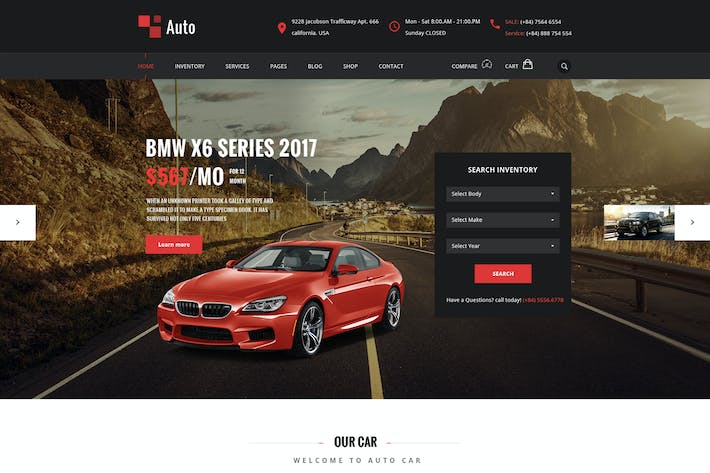 Thumbnail for Auto – PSD Template