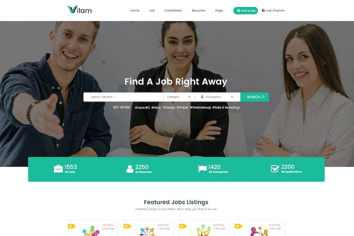 Thumbnail for ViLam - Job Board PSD Template