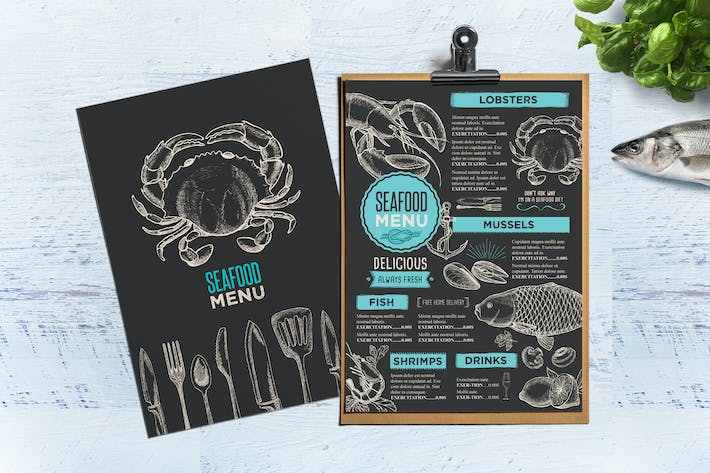 Thumbnail for Seafood Menu Template