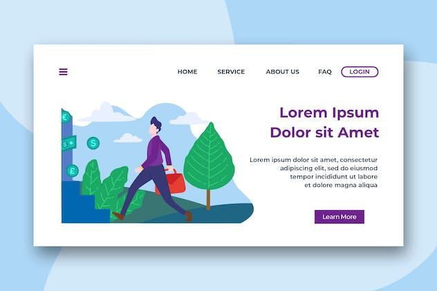 Business Opportunity Header Landing Page
