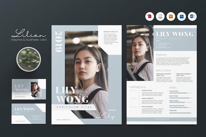 Thumbnail for Creative CV Resume & Name Card PSD, DOCX, AI No.25