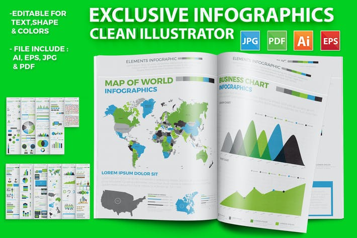 Thumbnail for Exclusive Infographics Elements Design