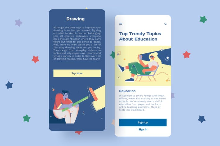 Thumbnail for Drawing Mobile Interface Illustrations