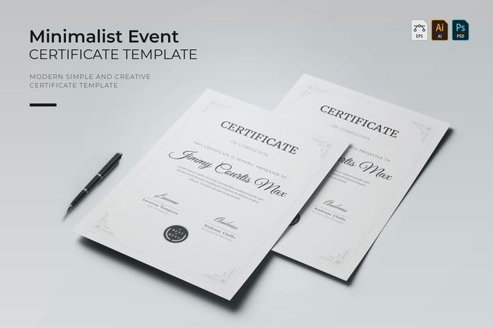 Thumbnail for Minimalist Event | Certificate