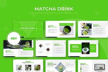 Matcha Напитки - Шаблон Keynote
